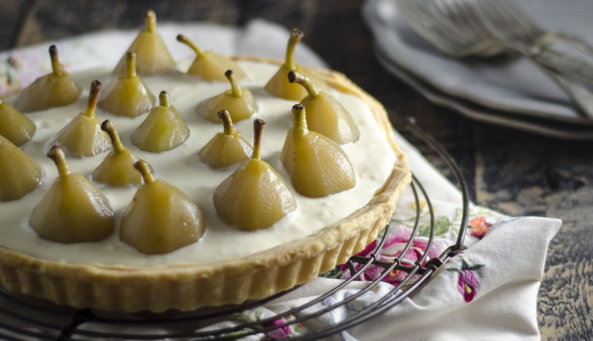Poached Pear Tart