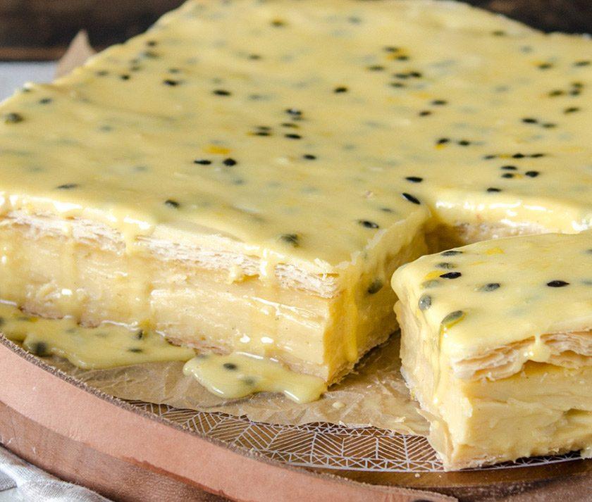Passionfruit Iced Vanilla Slice Recipe