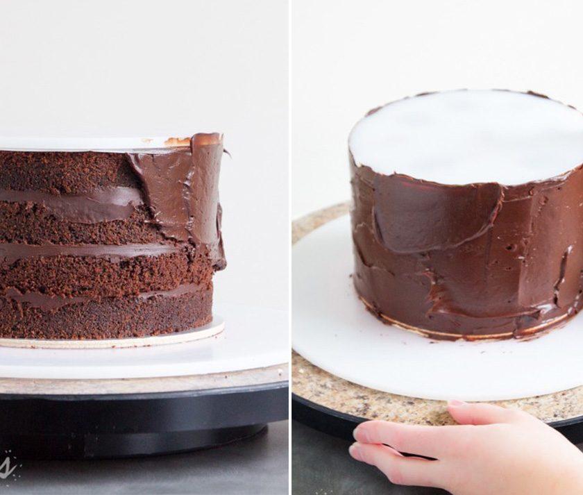 Tutorial: How to Ganache a Cake