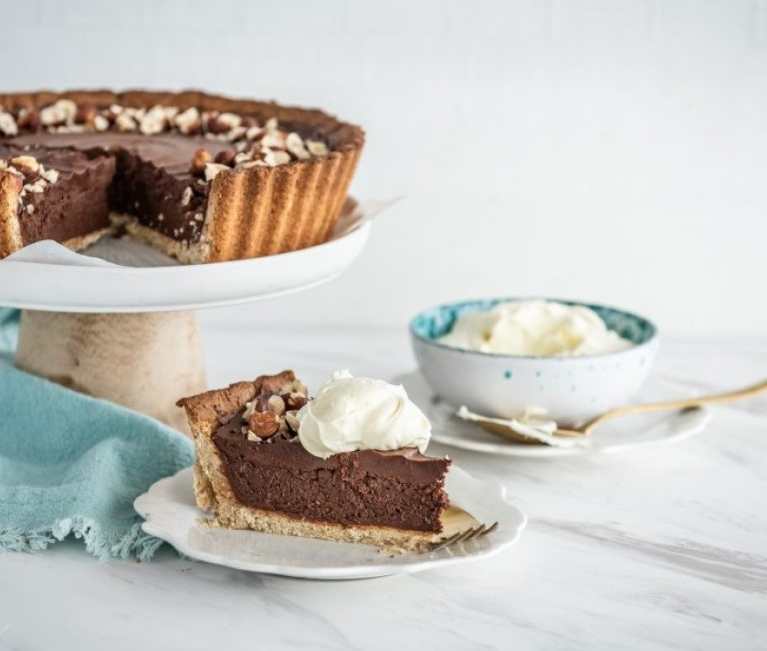 Chocolate Nutella Mousse Tart