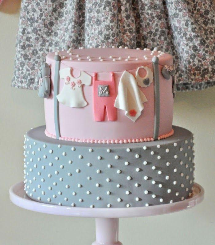Grey Pastel Cake 2