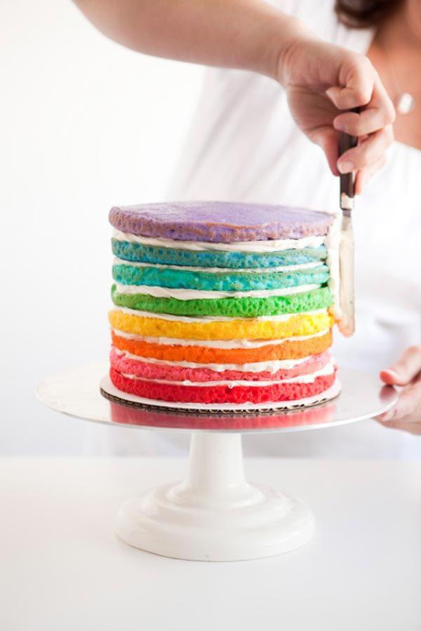 Happy Pushing Rainbow Cake